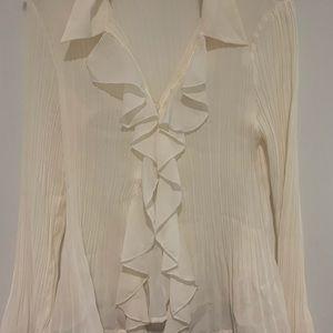 Sunny Leigh Tops - Cream Blouse